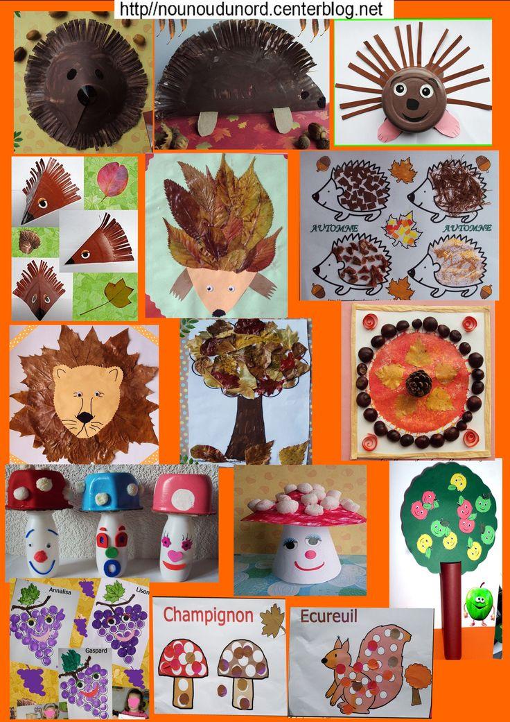 tableau des activités d'automne que vous trouverez en parcourant ma rubrique sur le lien
