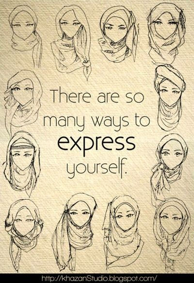 Screw the hair. Hehe :-D hijabi-fashion-style