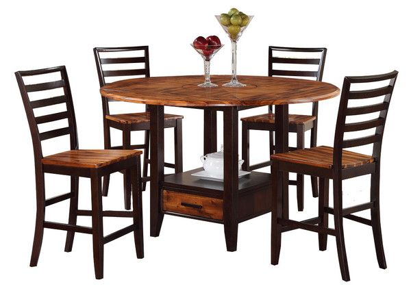 Dining room table acacia honey counter height table by for What size dining table for 10x12 room