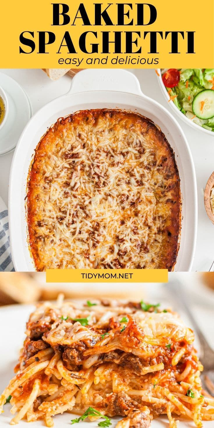 Baked Spaghetti Fix It And Freeze It Tips Recipe Recipes Baked Spaghetti Family Favorite Meals