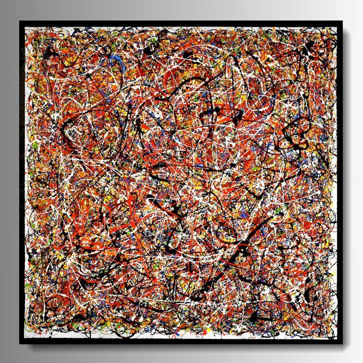 Produzione Quadri moderni astratti - 100% dipinti a mano. Quadri multicolor