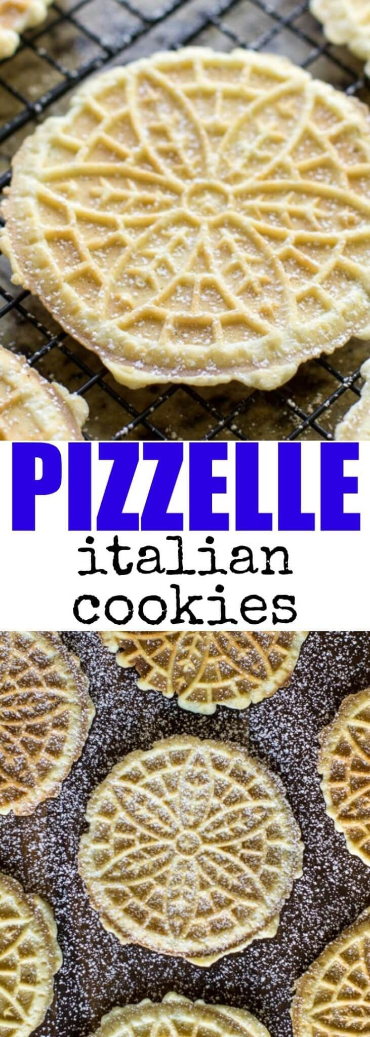 Pizzelle are nothing short of delightful. They are lightly sweetened with a crisp texture, easy to make, and perfect for holiday gift-giving.