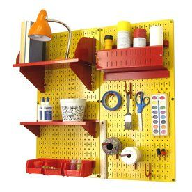 Wall Control 32-In W X 32-In H Yellow/Red Steel Garage Storage System 30-Cc-200 Yr