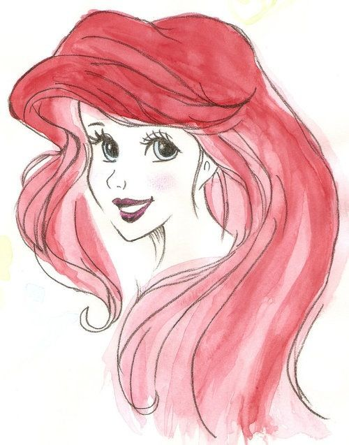 Ariel Tumblr Drawing Ariel drawing/water color