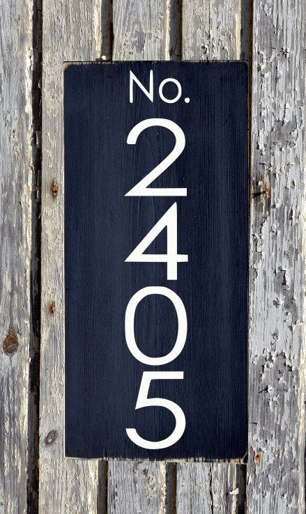 Address sign modern house numbers signs outdoor plaques for Modern house number plaques