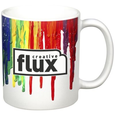 Get free ground shipping on these full color custom 11oz Matte Mugs from rushIMPRINT.com