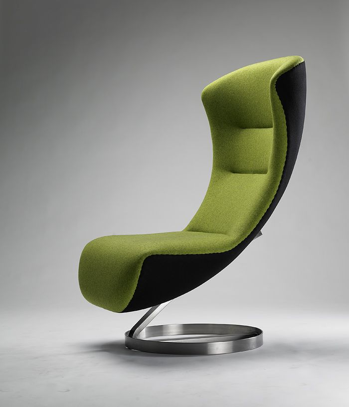Wonderful Funky Office Furniture Design Ideas Come With Nico Klaber Futuristic Green  Waiting Office Chair And Ergonomic Shape. Photo