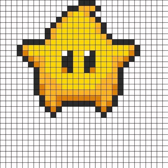 Super Mario Galaxy Luma Star Perler Bead Pattern