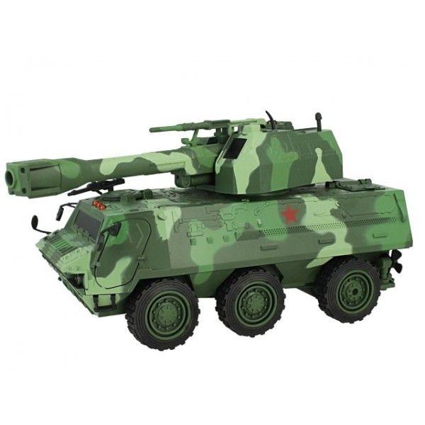 Duży czołg zdalnie sterowany z wyrzutnią