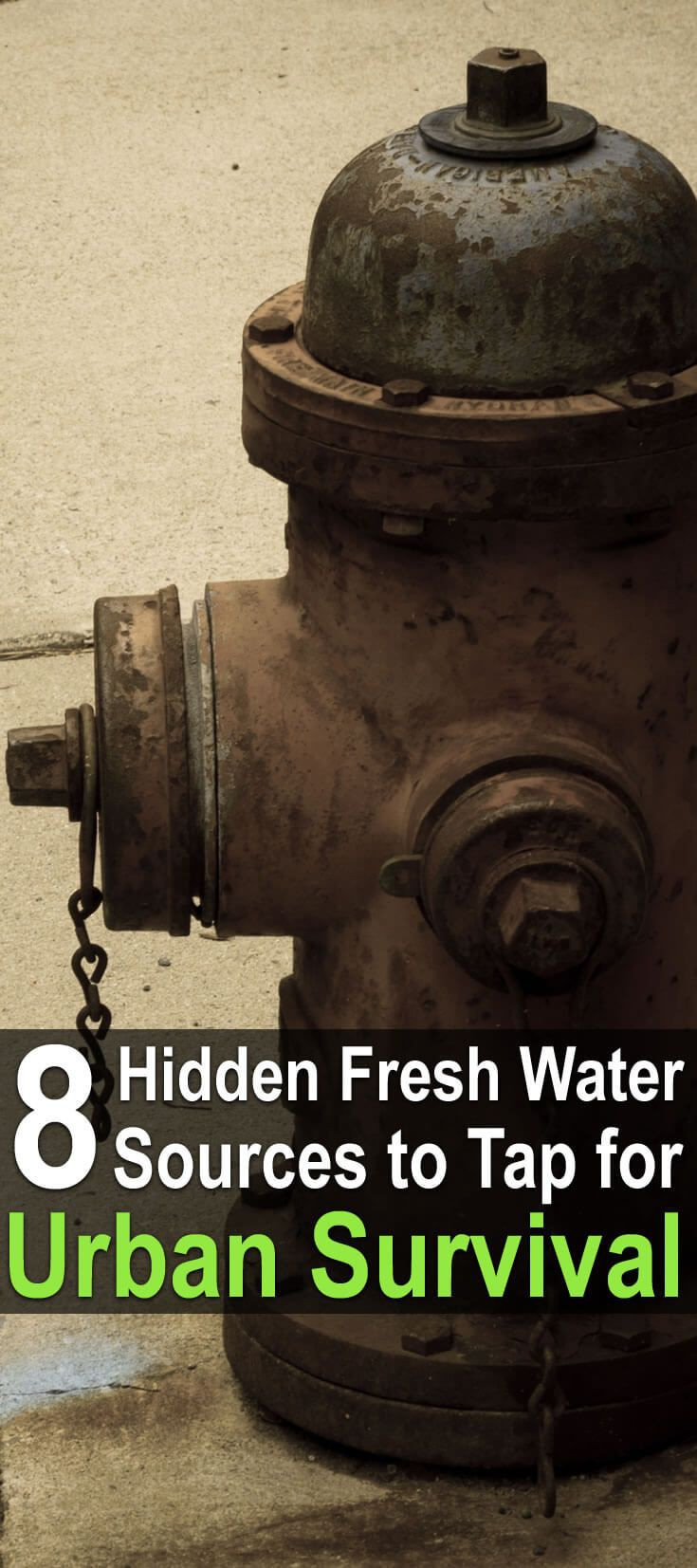 Where can you find water during an urban disaster? In this video, The Green Prepper answers that question. Here are his suggestions.