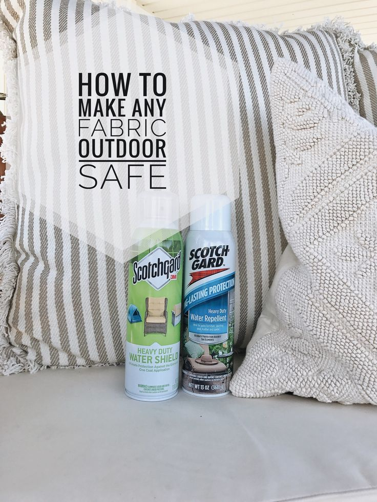 How To Make Any Fabric Outdoor Safe | How to make any fabric waterproof for indoor and outdoor super easily!