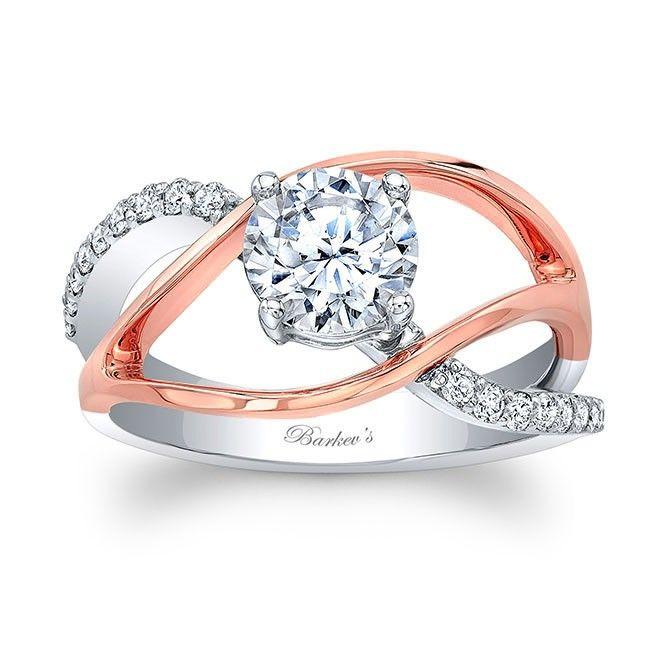 Unique Diamond Engagement Ring 8040LTPW