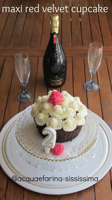 Maxi red velvet cupcake di Acqua e Farina-Sississima