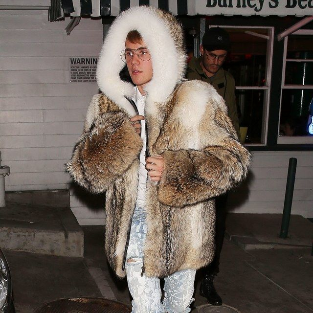 Justin Bieber's Fur Coat Continues His Head-Scratching Year in Style   GQ