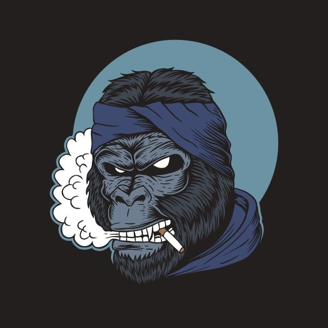 Gorilla Smoke Vector Illustration Angry Animal Ape Png And Vector With Transparent Background For Free Download Smoke Vector Vector Illustration Vector Art