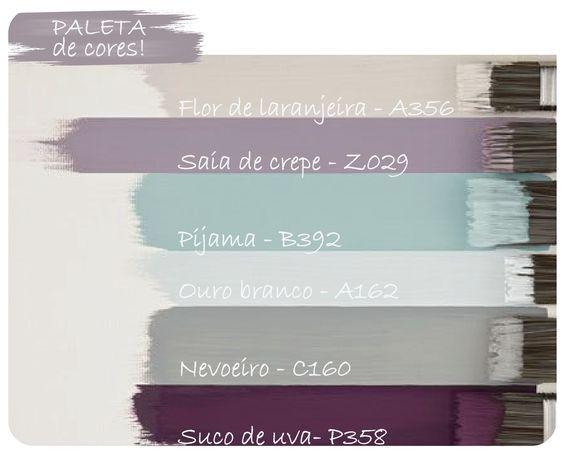 Paleta de cores: roxo!