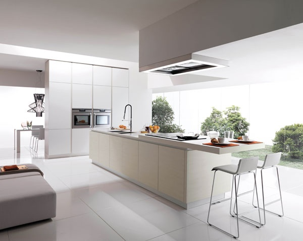 Linear Kitchen For A Modern House   Filovanity Top By Euromobil Kitchens