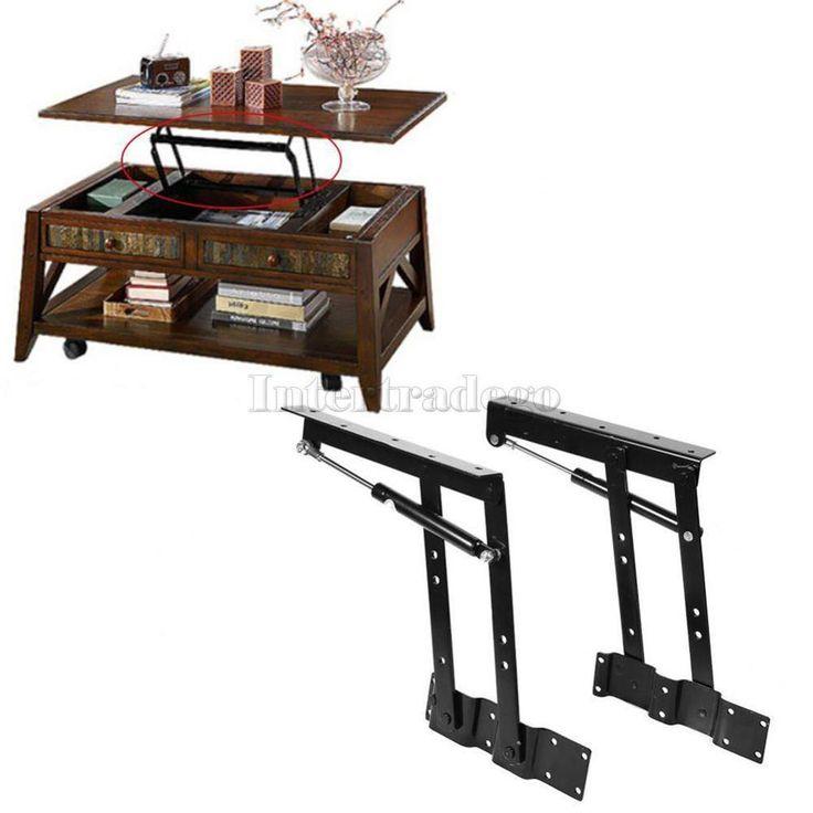New Black Metal Folding Lift Up Coffee Table Mechanism Furniture Hinge Hardware