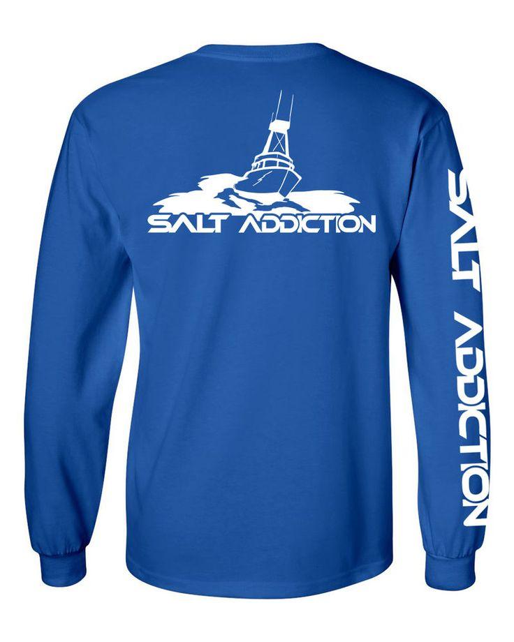 Salt addiction long sleeve saltwater fishing t shirt for Saltwater fishing apparel