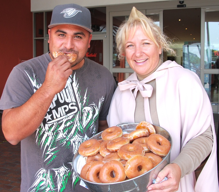 A real Donut Lassie was handing out free Krispy Kreme Doughnuts at Westfield Plaza Bonita for National Donut Day last Friday!