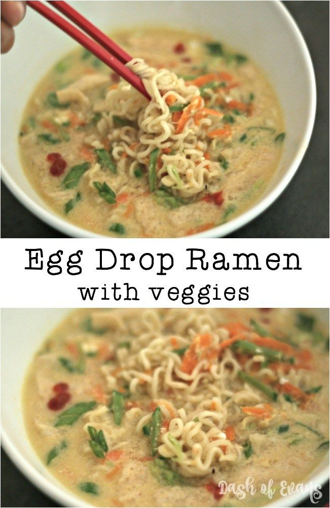 Two Favorites Egg Drop Soup And Ramen Noodles In One My Kids Call It Crazy Noodle Soup Via Dashofevans Egg Drop Ramen Egg Drop Soup Ramen Noodles