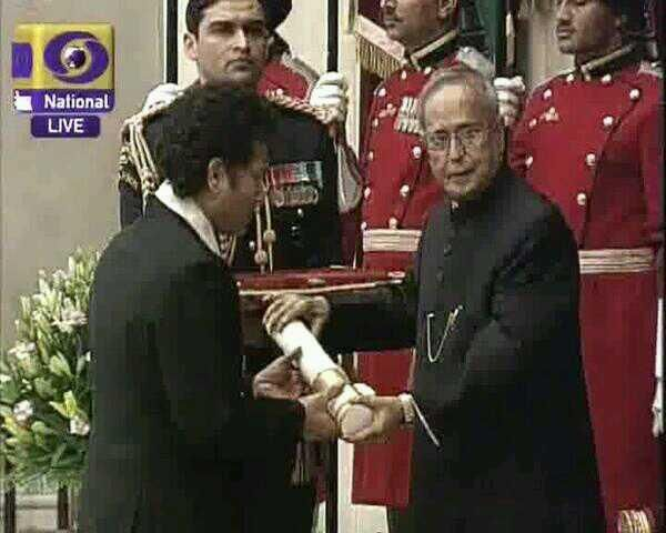 Sachin Ramesh Tendulkar received BharathaRathna today.