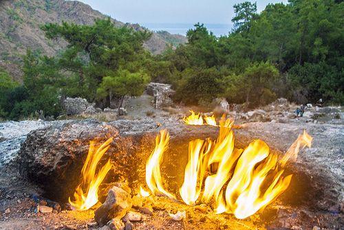 Natural eternal flame of the Chimera, Olympos/Çıralı by newmansm, via Flickr