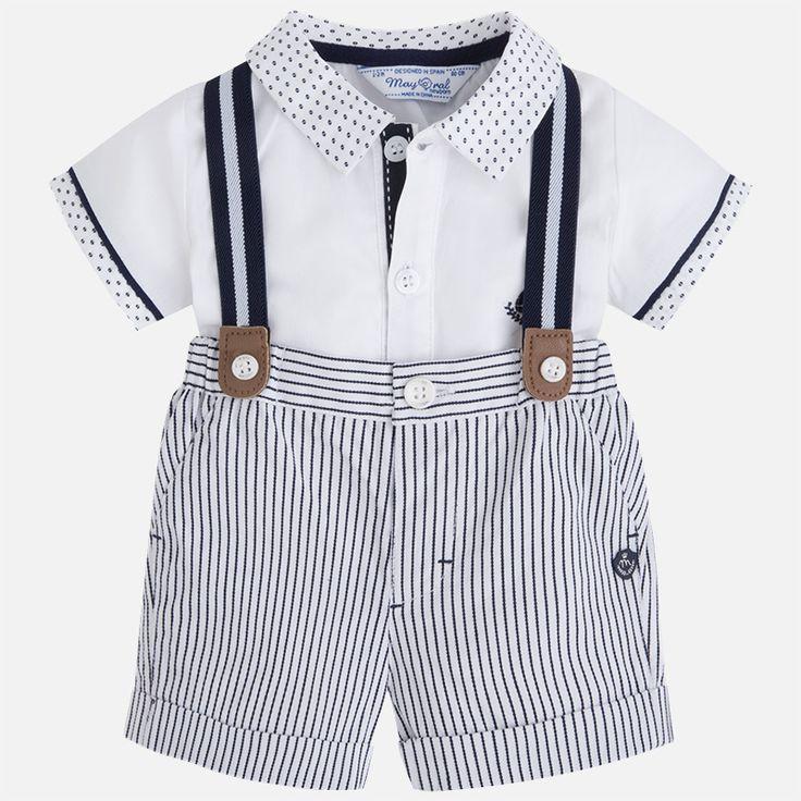 Mayoral Erkek Bebek Yazlık Kısa Kol Gömlek Bermuda Set Koyu Mavi - Bebek House