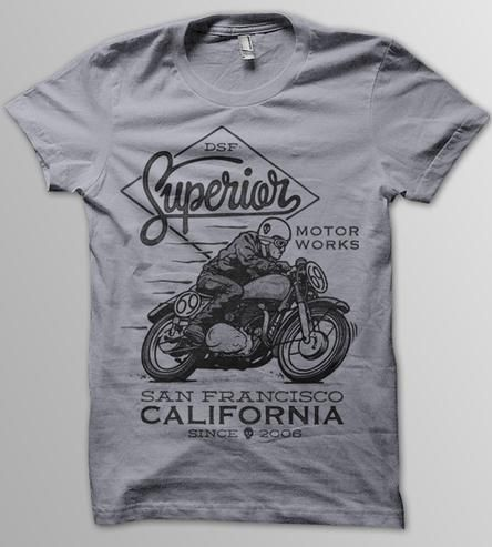 Motor Works T-Shirt by DSF Clothing Company and Art Gallery