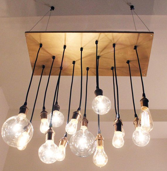 Funky Rustic Galvanized Pendant Light Via Etsy: Industrial Chic Chandelier Painted Bronze By Urbanchandy