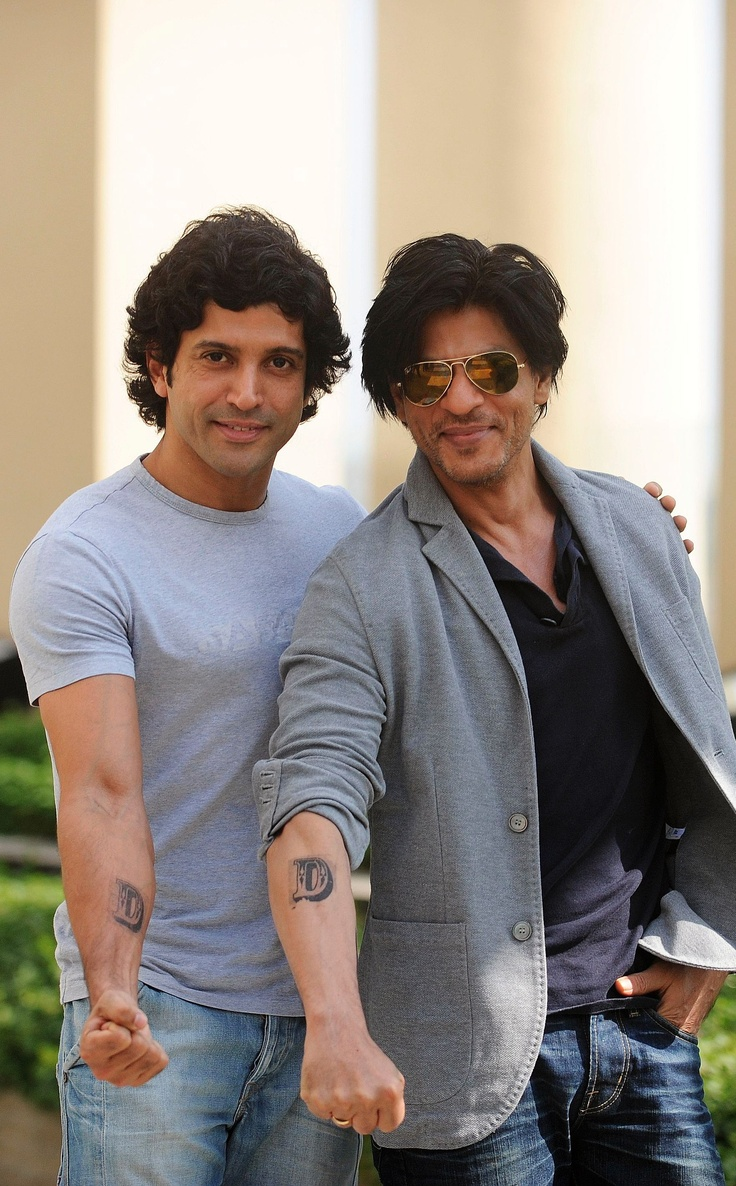 Shah Rukh Khan and Farhan Akhtar pose with their Don tattooes, See more photo stories here