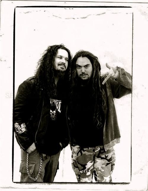 Dimebag Darrell and Max Cavalera.