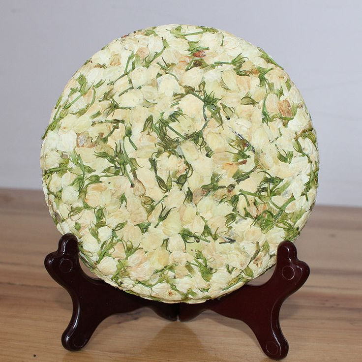 200G,Chinese Jasmine Bud Flower Tea Cake,Leaves Aroma, Mo Li Hua Herbal Tee 7 Oz