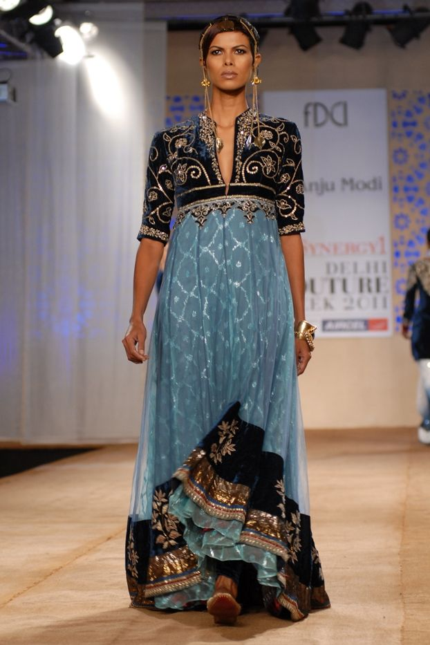 Anarkali designed by Anju Modi. To view, visit: http://www.vogue.in/content/delhi-couture-week-who-what-wear#21