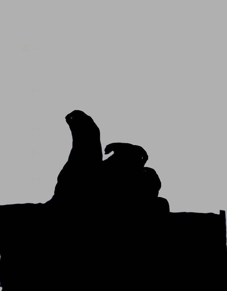 """Терминатор. Работы участников онлайн школы Айдентика. Тема """"Пиктограмма литературного персонажа"""", http://blog.romashin-design.com/ajdentika"""