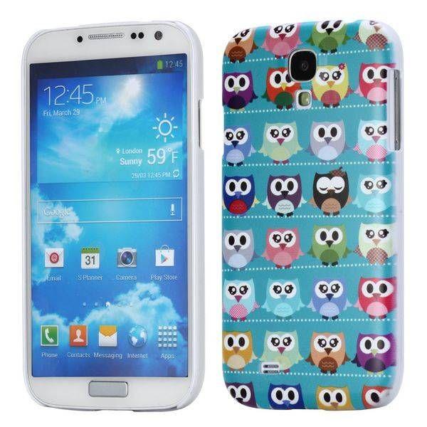 Uilen blauw hardcase hoesje Samsung Galaxy S4
