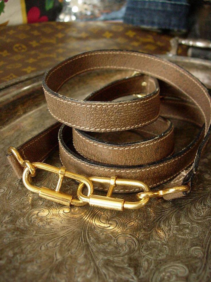 RARE Vintage GUCCI Leather Couture STRAP Speedy Purse Tote Luggage Accessory GG #Gucci