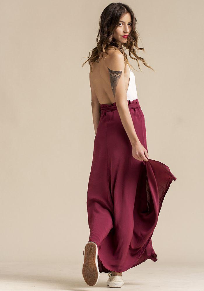 Cerise Twine Skirt  by myfashionfruit.com