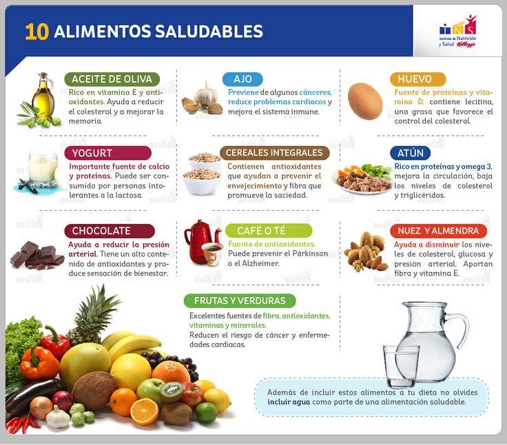 10 alimentos saludables  -  10 Healthy Food