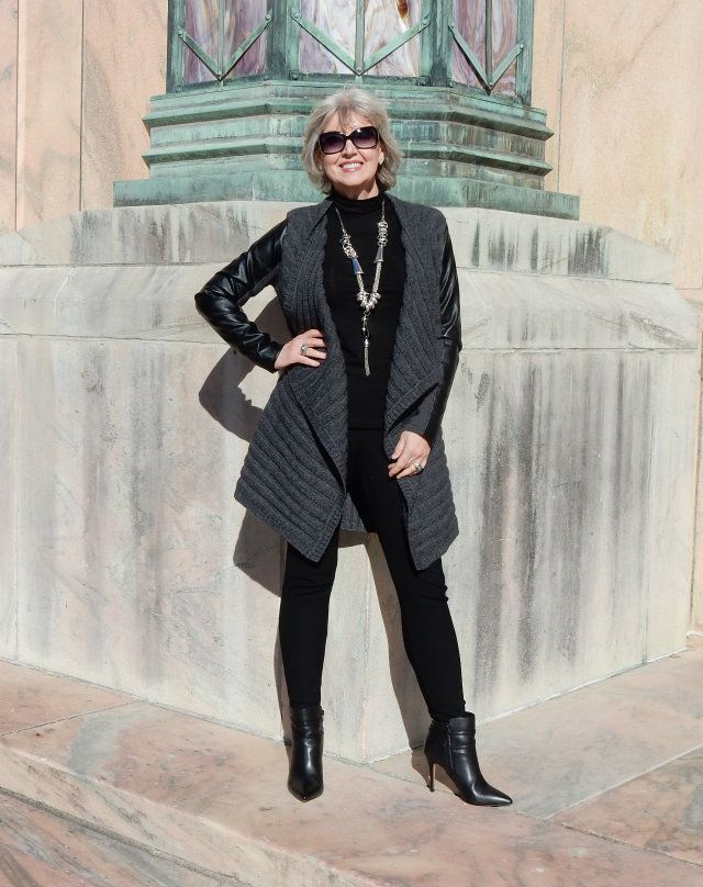 I'm honored to be featured on Fabulous After 40! Fifty-Not-Frumpy-Cardigan-Vest