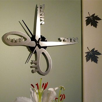 Scissors Clock And Wall Clocks On Pinterest