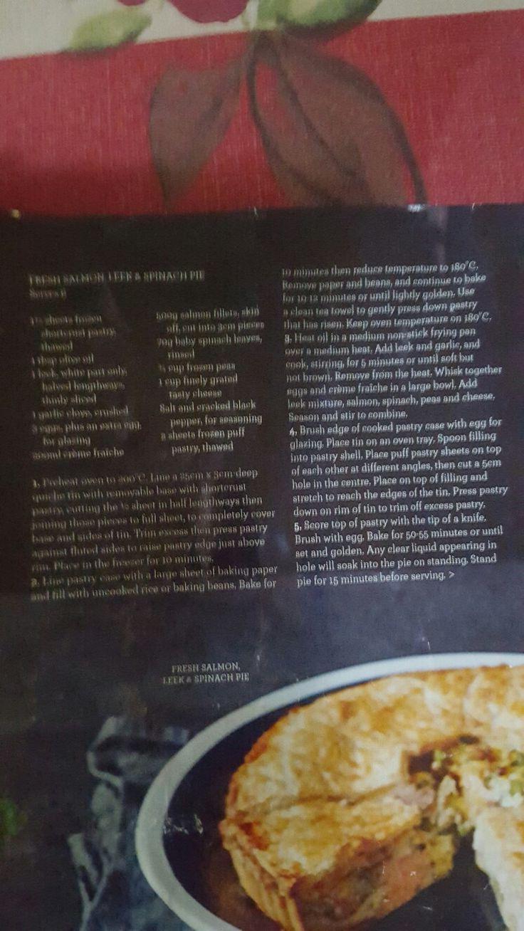 Salmon and leek pie