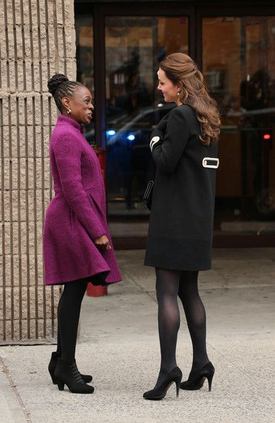 8 Dec 2014:  The Duchess of Cambridge meets Chirlane McCray (the wife of the current New York mayor) as she arrives at Northside Center for Child Development in New York City.