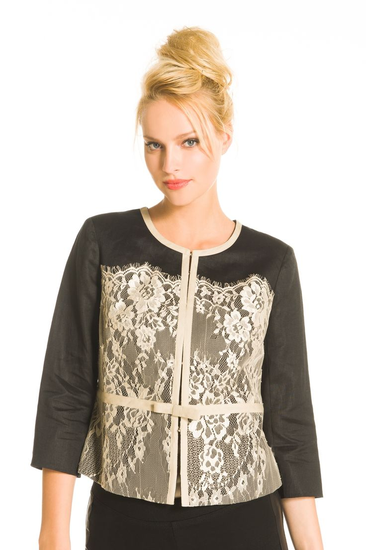 This jacket with 3/4 sleeves is a ticket to being tastefully attired!