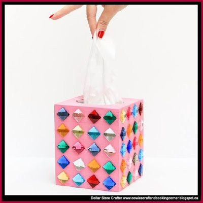 Dollar Store Crafter: Make This Rhinestone Tissue Box For Mom This Mother's Day