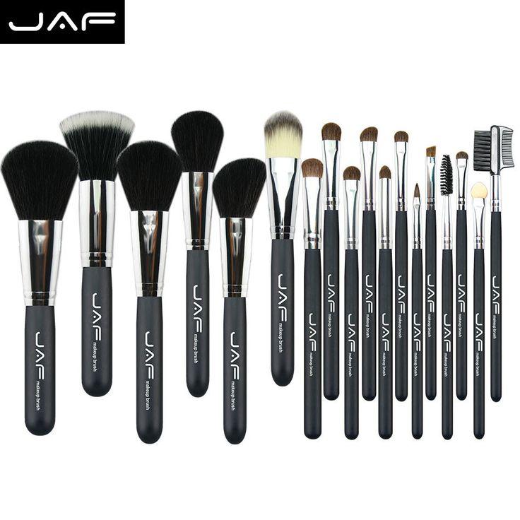 JAF 20 pcs brushes natural hair makeup brush set professional Cosmetic make up brush  tools Kits brushes for makeup  J20PY B-in Makeup…