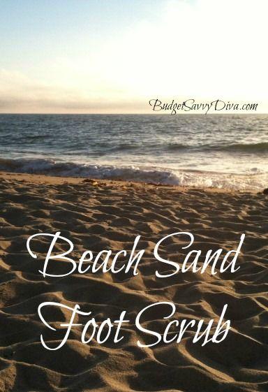 How to Make a Beach Sand Foot Scrub