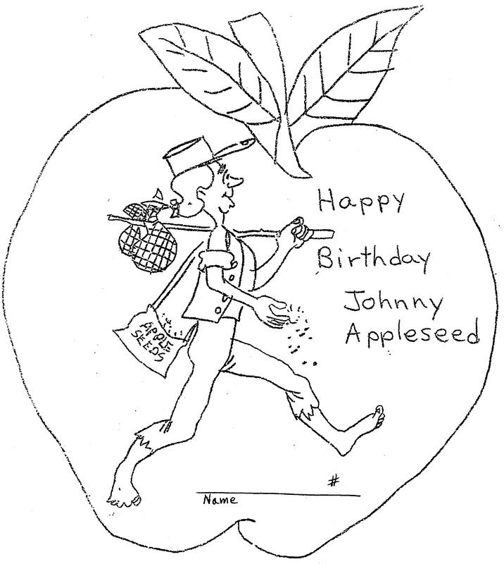 Johnny Appleseed Coloring Pages. Johnny Appleseed day is ...