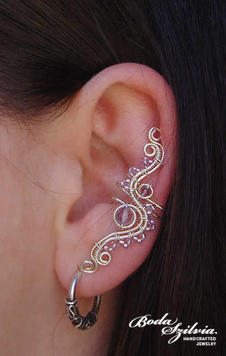 Wire Wrapped Ear Cuff