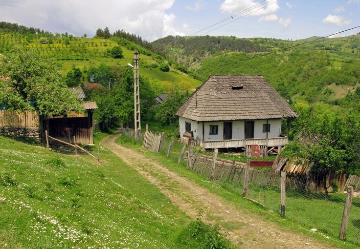 Lovistea Romania simple traditional rural house village